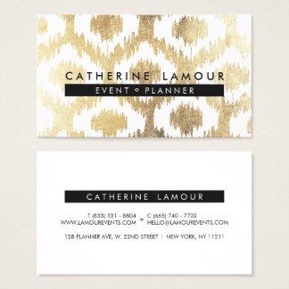 Teste padrão branco moderno do ikat do handrawn da cartão de visitas