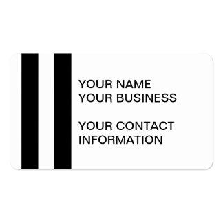 Teste padrão branco preto moderno das listras cartão de visita