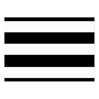 Teste padrão branco preto moderno das listras cartão de visita grande