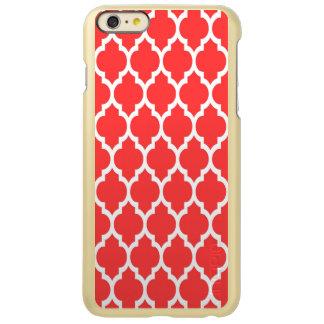 Teste padrão branco vermelho coral #4 de capa incipio feather® shine para iPhone 6 plus