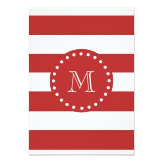 Teste padrão branco vermelho das listras, seu convites personalizados