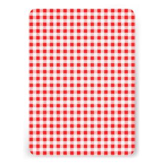 Teste padrão branco vermelho do guingão convites