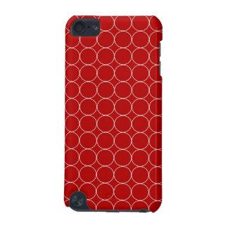 teste padrão branco vermelho dos círculos do ipod  capa para iPod touch 5G