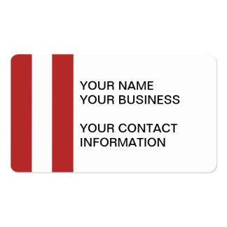 Teste padrão branco vermelho moderno das listras cartão de visita