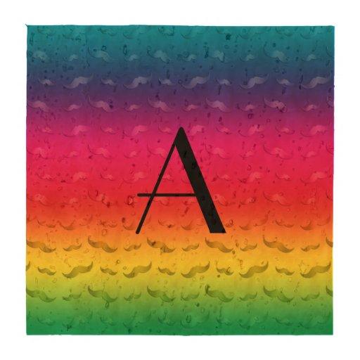 Teste padrão brilhante do bigode do arco-íris do porta-copos