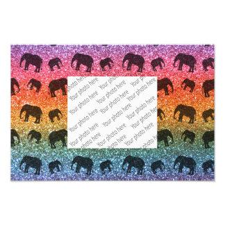 Teste padrão brilhante do brilho do elefante do ar fotos