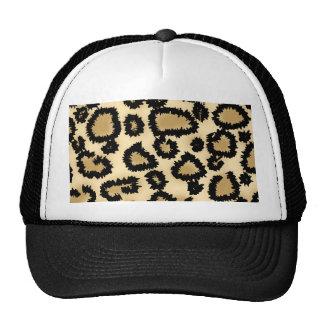 Teste padrão, Brown e preto do impressão do leopar Boné