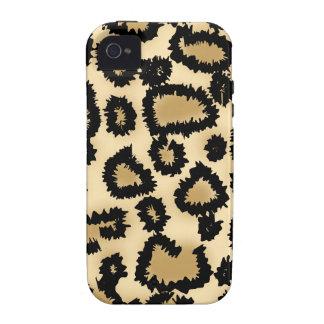 Teste padrão, Brown e preto do impressão do leopar Capinhas Para iPhone 4/4S