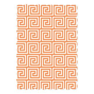 Teste padrão chave grego branco alaranjado da