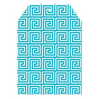 Teste padrão chave grego branco azul do Aqua