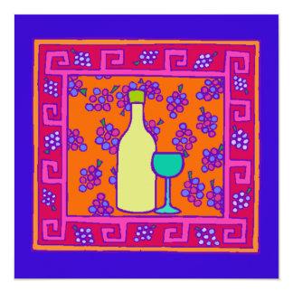 Teste padrão chave & uvas & convite de festas do