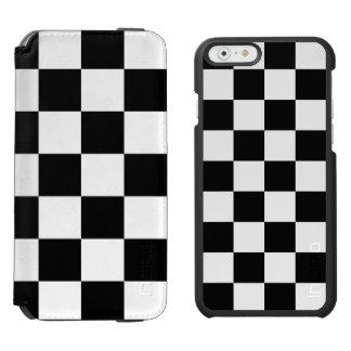 Teste padrão Checkered preto e branco