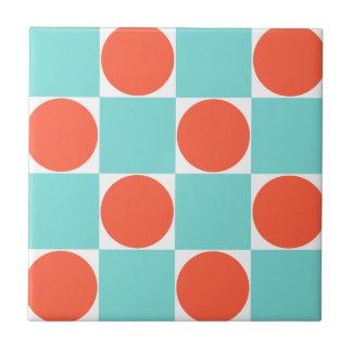 Teste padrão Checkered retro dos pontos azuis &