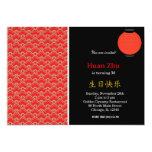 Teste padrão chinês do aniversário convite 12.7 x 17.78cm