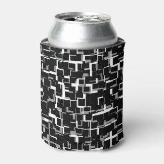 Teste padrão cinzento branco preto de Digitas Camo Porta-lata