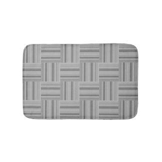 Teste padrão cinzento do weave das listras tapete de banheiro