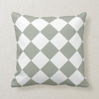 Teste padrão cinzento esverdeado prudente do travesseiros