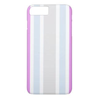 Teste padrão cinzento roxo feminino das listras capa iPhone 7 plus