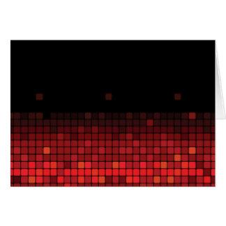 Teste padrão claro musical vermelho cartão de nota