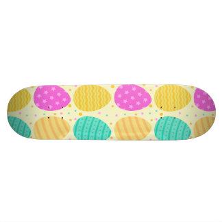 Teste padrão colorido bonito dos ovos da páscoa shape de skate 18,4cm