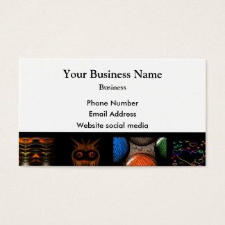 Teste padrão colorido da arte abstracta cartão de visitas