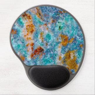 Teste padrão colorido da pedra do mármore do mouse pad de gel