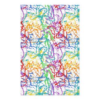 Teste padrão colorido da pintura do Splatter Papelaria