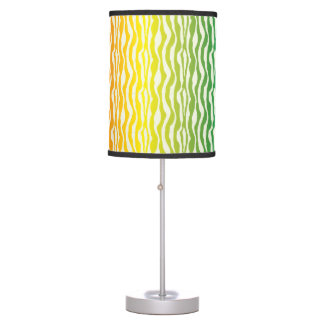 Teste padrão colorido da zebra do arco-íris luminária de mesa