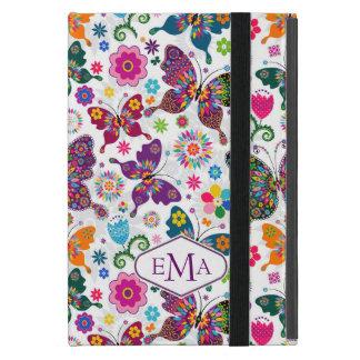 Teste padrão colorido das borboletas & de flores capas iPad mini