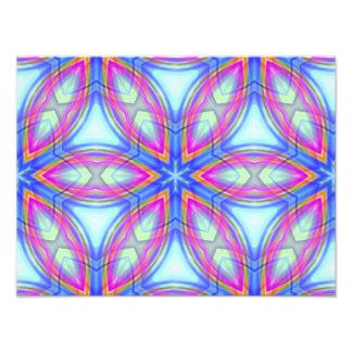 Teste padrão colorido do caleidoscópio azul & cor- impressão de foto