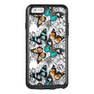 Teste padrão colorido do esboço das borboletas