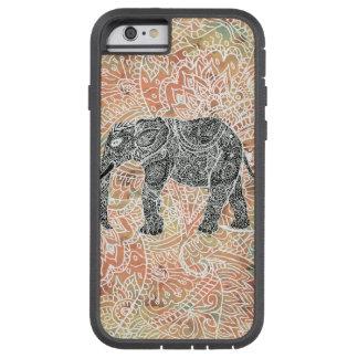 Teste padrão colorido do Henna do elefante tribal Capa Tough Xtreme Para iPhone 6