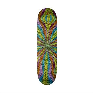 Teste padrão colorido do mosaico original shape de skate 20cm