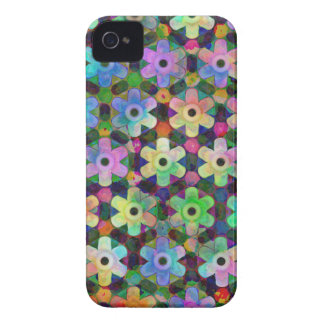 Teste padrão colorido do Pinwheel da flor Capa Para iPhone