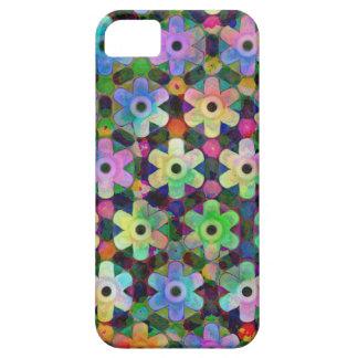 Teste padrão colorido do Pinwheel da flor Capa Para iPhone 5