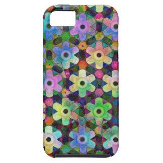 Teste padrão colorido do Pinwheel da flor Capas Para iPhone 5