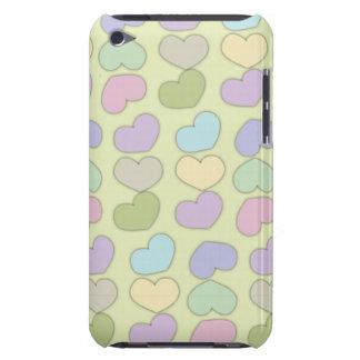 teste padrão colorido dos corações e do fundo capa para iPod touch