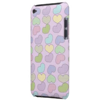 teste padrão colorido dos corações e do fundo roxo capa para iPod touch