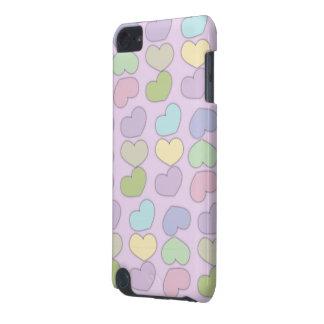 teste padrão colorido dos corações e do fundo roxo capa para iPod touch 5G