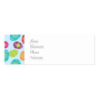 Teste padrão colorido dos ovos da páscoa do cartão de visita skinny