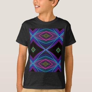 Teste padrão colorido fluorescente de néon Funky Camiseta