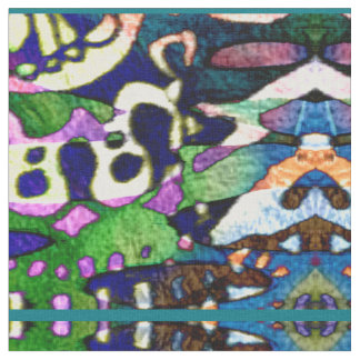 Teste padrão colorido Funky do caleidoscópio Tecido