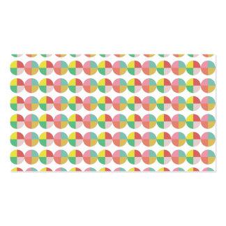 Teste padrão colorido geométrico modelos cartões de visitas