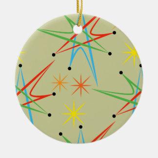 Teste padrão colorido retro atômico de Starburst Enfeites Para Arvores De Natal