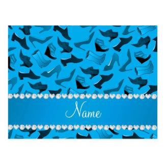Teste padrão conhecido personalizado dos sapatos cartão postal