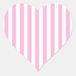 Teste padrão contínuo feminino das listras do rosa adesivos de corações