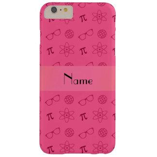 Teste padrão cor-de-rosa conhecido personalizado capa barely there para iPhone 6 plus