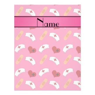 Teste padrão cor-de-rosa conhecido personalizado panfletos personalizados