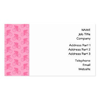Teste padrão cor-de-rosa da bicicleta modelos cartões de visita
