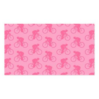 Teste padrão cor-de-rosa da bicicleta cartão de visita